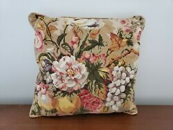 Custom P Kaufmann Queensland Throw Pillow 19 in Square Cottage Shabby Decor $28.77