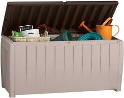 Keter Plastic Deck Storage Container Box Outdoor Patio Furniture 90 Gal $79.99