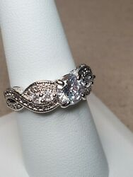 Ring Bomb Party Fall Catch a Unicorn Size 8 White Topaz RBP2278 New w tag amp; bag $24.95
