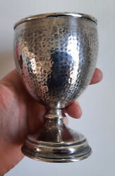 ANTIQUE HAND HAMMERED STERLING CHALICE CUP ARTS amp; CRAFTS MISSION $75.00
