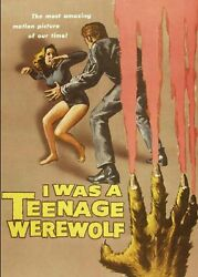 I WAS A TEENAGE WEREWOLF 1957 MICHAEL LANDON 50#x27;S TEEN HORROR