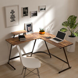 L Shaped Desk Home Office Desk Corner Computer Gaming Laptop Table Workstation $69.99