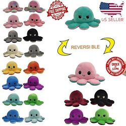 Reversible Flip Octopus Plush Stuffed Toy Soft Animal Home Accessories Doll Gift $11.95
