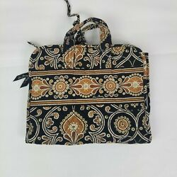 Vera Bradley Hanging Organizer CAFFE LATTE Brown Black Travel Toiletry Makeup $19.96