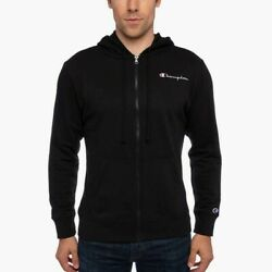 Champion Men's Full Zip Hoodie SIZE LARGE COLOR BLACK FREE SHIPPING $19.95