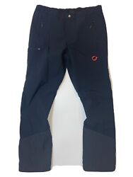 Mammut Hiking Trekking Trail Pants Black Stretch Unisex Size US 40 L XL $55.30
