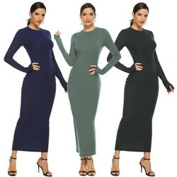 Women#x27;s Sexy Party Dress Long Sleeve Bodycon Sweater Dress Ball Gown Dresses $8.99