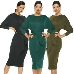 Women#x27;s Sexy Party Dress Long Sleeve Bodycon Dress Bandage Ball Gown Dresses $22.99