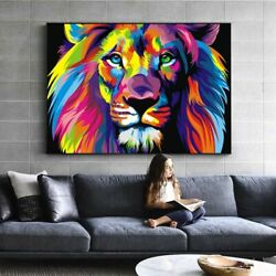 Lion Art Posters And Prints Abstract Animals Canvas Art Wall Paintings Pictures $19.79
