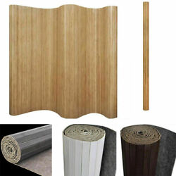 Modern Room Divider Bamboo 98.4quot; Partition Privacy Screen Natural Brown White $95.14
