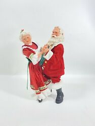 Christmas Santa PDL Mr And Mrs Figurine Dancing Good Condition $54.00
