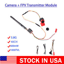 TS5828S 40CH 600mW 5.8Ghz Transmitter 1000TVL Mini FPV Camera SMA USA STOCK $32.99