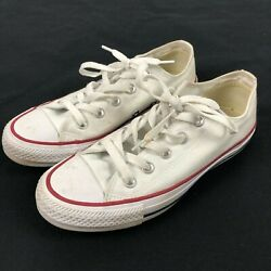 Mens Converse All Star White Canvas Low Sneakers Women Size 4 US $14.99