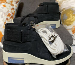 NIKE AIR FEAR OF GOD RAID quot;BLACKquot; AT8087 002 Size 5 Mens $140.00