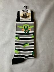 New Disney Star Wars BABY YODA Mens Novelty Socks WITH FROGS THE MANDALORIAN $12.74
