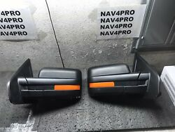 *Open Box* 2007 2014 Ford F 150 F150 Telescopic Power LED Towing Mirror Pair #24 $86.99