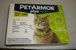 PETARMOR PLUS FOR CATS THIS IS THE 6 MONTH VALUE PACK FREE SHIPPING BRAND NEW $27.99