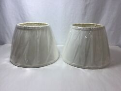 2 New Ivory Off White Fabric Empire Lamp Shades 7quot; Tall $19.99