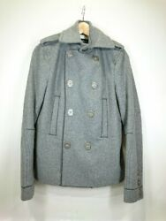 Used Dsquared2 Peacoat 40 Wool Gry Plain Inner Dirt Small Menswear $217.75