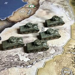Axis And Allies Painted Pieces American Tanks M4A3 Sherman X1 $6.00