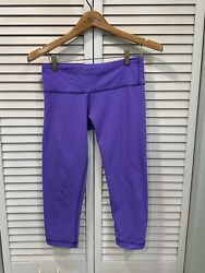 Lululemon Wunder Under Women's Size 6 Purple Wave Pattern Leggings GUC $40.00
