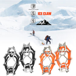 Ice Shoe Spike Grips Cleats Anti Slip Stainless Steel Crampons Climbing Tools $20.45