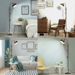 Industrial Floor Standing Pole Lamp With Adjustable Lamp Head $98.99