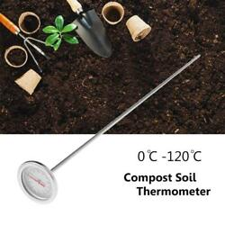 50cm Premium Stainless Steel Compost Thermometer Garden Soil Backyard 0℃ 120℃ $11.98