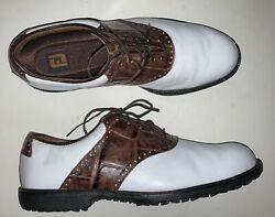 FOOTJOY Leather Teaching Professional Shoe Size 12 D $47.50