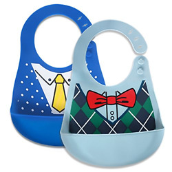 Baby Waterproof Bibs Silicone Bib for Babies and Toddlers with Various Styles $19.66