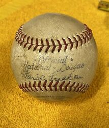 Official NL National League Ford C Frick Spalding Baseball 5 Pirates Auto's $49.87