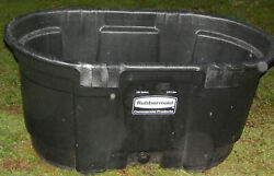 Brand New Rubbermaid Commercial Products 100 Gallon 378 Liter Stock Tank w Drain