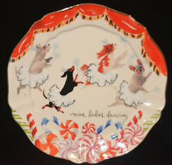 Anthropologie Inslee Fariss 12 Days of Christmas Plate 9 Ladies Dancing $189.98