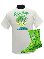 Rick And Morty Casual Men's Graphic Tee Street Urban T Shirt Large Socks $21.90