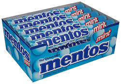 Mentos Chewy Mint Candy Roll Mint Non Melting Party 14 Pieces Bulk Pack of $13.40