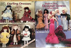 American School Of Needlework Crochet Fashion Doll Designer Gowns Little Girl
