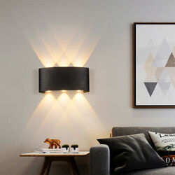 6W LED Wall Lights Modern Up Down Sconce Lighting Fixture Lamp Indoor Outdoor $12.86