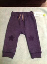 Cat amp; Jack Baby Boys Star Knee Pull On Jogging Pants Size 6 9 Months NWT $5.99