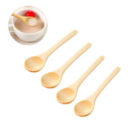 Kitchen Home for Tea Spoons Stirring Spoons Wooden Practical Spoons 10pcs $7.07