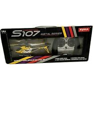 Syma S107 3 CH Mini RC Helicopter Micro Drone Toy Remote Control Metal Yellow $33.00