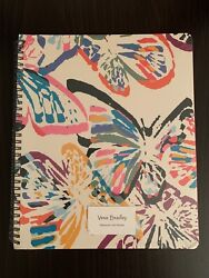 Vera Bradley Large Notebook in Butterfly Flutter White NWT $22.00