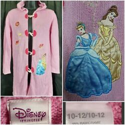 Disney Princess Knitted Embroidered Girls cardigan tunic size 10 12 $10.99
