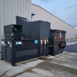 Large Commercial Trash Compactor w 8 Yard Dumpster Dry Waste Packing Materials
