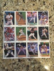1990 Leaf Uncut Sheet RARE framed For 30 Years PSA 10 ? Perfectly Centered $349.00