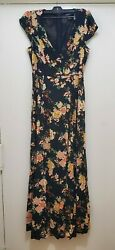 Womens FOREVER 21 floral Maxi Dress Size M $7.00