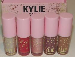 Kylie Jenner Mini Gloss Set Lip Collection 5 Pc 0.03 Oz Each NIB High Plumping