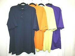Callaway Mens Lot of 4 XL Shirts Golf Polo Solid Colors S Sleeve Rugby Tops $39.00