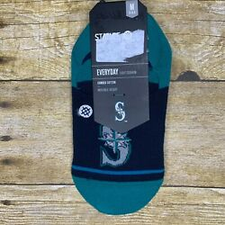 Stance Seattle Mariners Super Invisible Low Rise Mens Socks Medium Size 6 8.5 $9.99