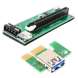 USB3.0 PCI E Express 1x To 16x GPU Extender Riser Card Adapter Power Cable AC770 $9.34