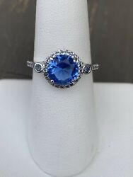 Ring Bomb Party Size 7 Blue Sapphire And Aquamarine Ring $21.00